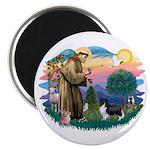 St. Francis #2 / Sheltie (bb) Magnet