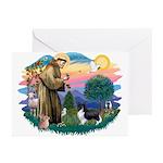 St. Francis #2 / Sheltie (bb) Greeting Cards (Pk o