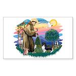 St. Francis #2 / Sheltie (bb) Sticker (Rectangle)