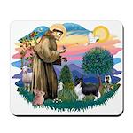 St. Francis #2 / Sheltie (bb) Mousepad