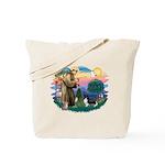 St. Francis #2 / Sheltie (bb) Tote Bag