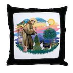 St. Francis #2 / Sheltie (bb) Throw Pillow