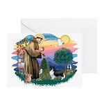 St. Francis #2 / Sheltie (bb) Greeting Card