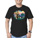 St. Francis #2 / Sheltie (bb) Men's Fitted T-Shirt