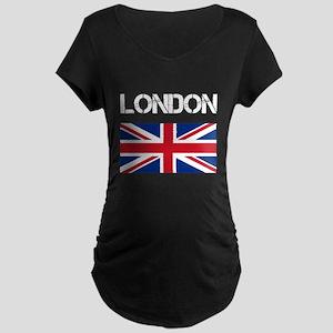 London Union Jack Maternity Dark T-Shirt