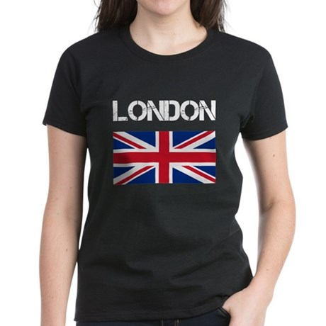 London Union Jack Women's Dark T-Shirt