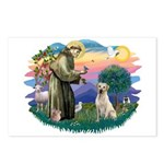 St. Francis #2 / Yellow Lab Postcards (Package of