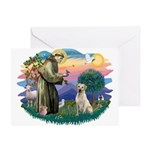St. Francis #2 / Yellow Lab Greeting Card