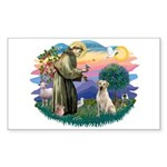 St. Francis #2 / Yellow Lab Sticker (Rectangle 10