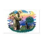 St.Francis #2 / Black Lab Mini Poster Print