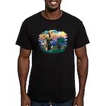 St.Francis #2 / Black Lab Men's Fitted T-Shirt (da