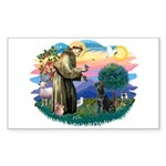 St.Francis #2 / Black Lab Sticker (Rectangle 10 pk