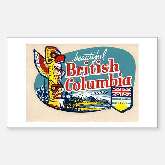 British Columia Retro Travel Decal