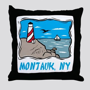 Montauk, NY Throw Pillow
