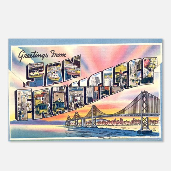 Cute Big letter Postcards (Package of 8)
