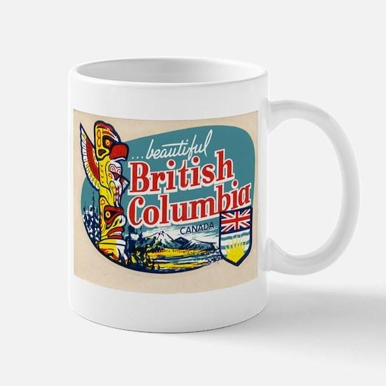 Retro British Columbia Canada Mug
