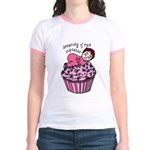 Baby Girl Dreams of Raw Cupcake Jr. Ringer T-Shirt