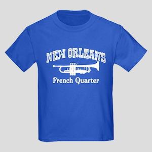 New Orleans French Quarter Kids Dark T-Shirt