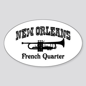 New Orleans French Quarter Sticker (Oval)