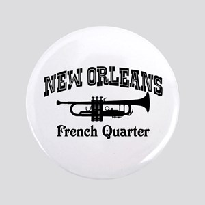 """New Orleans French Quarter 3.5"""" Button"""