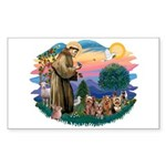 St Francis #2/ Yorkies (4) Sticker (Rectangle 10 p