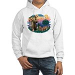 St Francis #2/ Yorkies (4) Hooded Sweatshirt