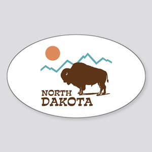 North Dakota Sticker (Oval)