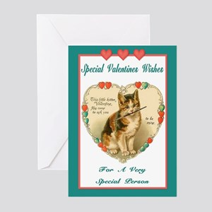 Vintage Kitten Valentine Greeting Cards (Package o
