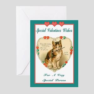 Vintage Kitten Valentine Greeting Cards (Package o