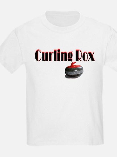 Curling Rox Kids T-Shirt