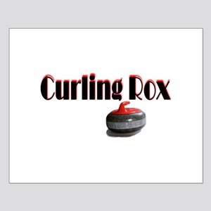 Curling Rox Small Poster