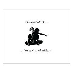 Screw Work-I'm Going Skating (Girl Skater) Posters