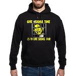 Give Obama Time Hoodie (dark)