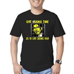 Give Obama Time Men's Fitted T-Shirt (dark)