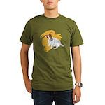 JRT Orange Burst Logo Organic Men's T-Shirt (dark)