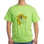 JRT Orange Burst Logo Green T-Shirt