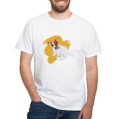 JRT Orange Burst Logo White T-Shirt