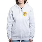 JRT Orange Burst Logo Women's Zip Hoodie