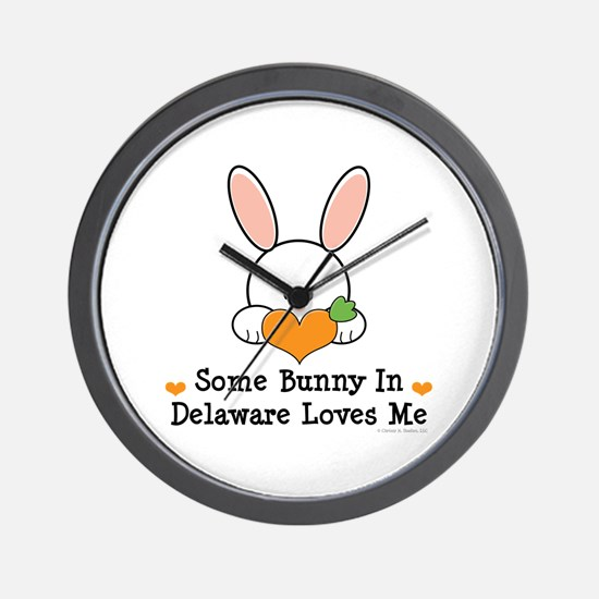 Some Bunny In Delaware Loves Me Wall Clock