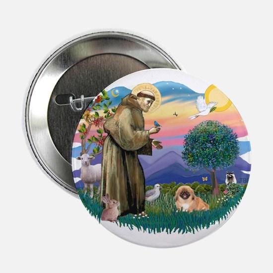"""St.Francis #2 / Pekingese #1 2.25"""" Button"""