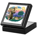 St.Francis #2 / Pekingese #1 Keepsake Box