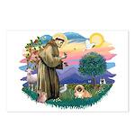 St.Francis #2 / Pekingese #1 Postcards (Package of