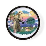 St.Francis #2 / Pekingese #1 Wall Clock