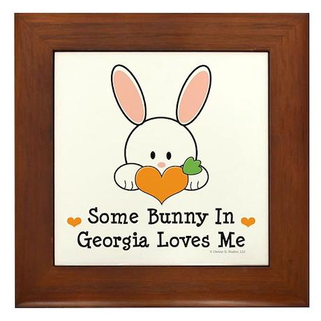 Some Bunny In Georgia Loves Me Framed Tile