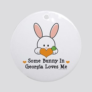 Some Bunny In Georgia Loves Me Ornament (Round)