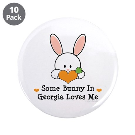 """Some Bunny In Georgia Loves Me 3.5"""" Button (10 pac"""