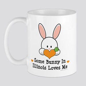 Some Bunny In Illinois Loves Me Mug