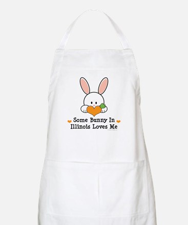 Some Bunny In Illinois Loves Me Apron