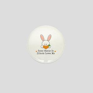 Some Bunny In Illinois Loves Me Mini Button