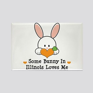 Some Bunny In Illinois Loves Me Rectangle Magnet